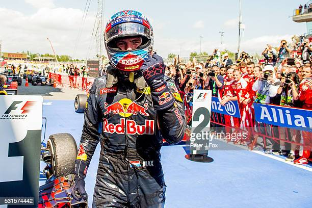 Max Verstappen of Red Bull Racing wins the Spanish Formula One Grand Prix at Circuit de Catalunya on May 15 2016 in Montmelo Spain
