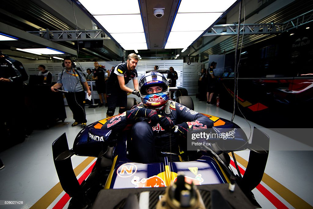 <a gi-track='captionPersonalityLinkClicked' href=/galleries/search?phrase=Max+Verstappen&family=editorial&specificpeople=12813205 ng-click='$event.stopPropagation()'>Max Verstappen</a> of Scuderia Toro Rosso and The Netherlands during practice for the Formula One Grand Prix of Russia at Sochi Autodrom on April 29, 2016 in Sochi, Russia.