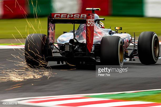 Max Verstappen of Scuderia Toro Rosso and The Netherlands during final practice for the Formula One Grand Prix of Japan at Suzuka Circuit on...