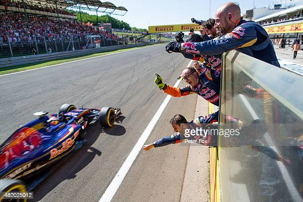 Max Verstappen of Scuderia Toro Rosso finishes 4th during the Formula One Grand Prix of Hungary at Hungaroring on July 26 2015 in Budapest Hungary