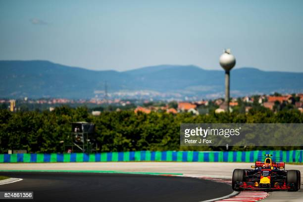 Max Verstappen of The Netherlands and Red Bull Racing during the Formula One Grand Prix of Hungary at Hungaroring on July 30 2017 in Budapest Hungary