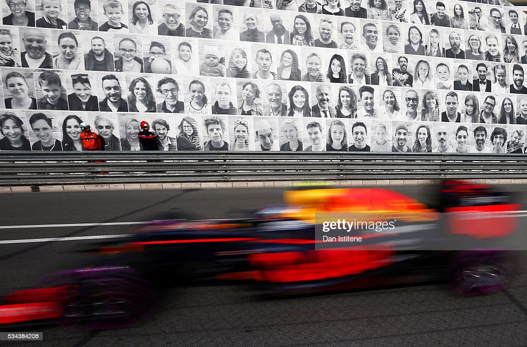 <a gi-track='captionPersonalityLinkClicked' href=/galleries/search?phrase=Max+Verstappen&family=editorial&specificpeople=12813205 ng-click='$event.stopPropagation()'>Max Verstappen</a> of the Netherlands drives the 6 Red Bull Racing Red Bull-TAG Heuer RB12 TAG Heuer during practice for the Monaco Formula One Grand Prix at Circuit de Monaco on May 26, 2016 in Monte-Carlo, Monaco.