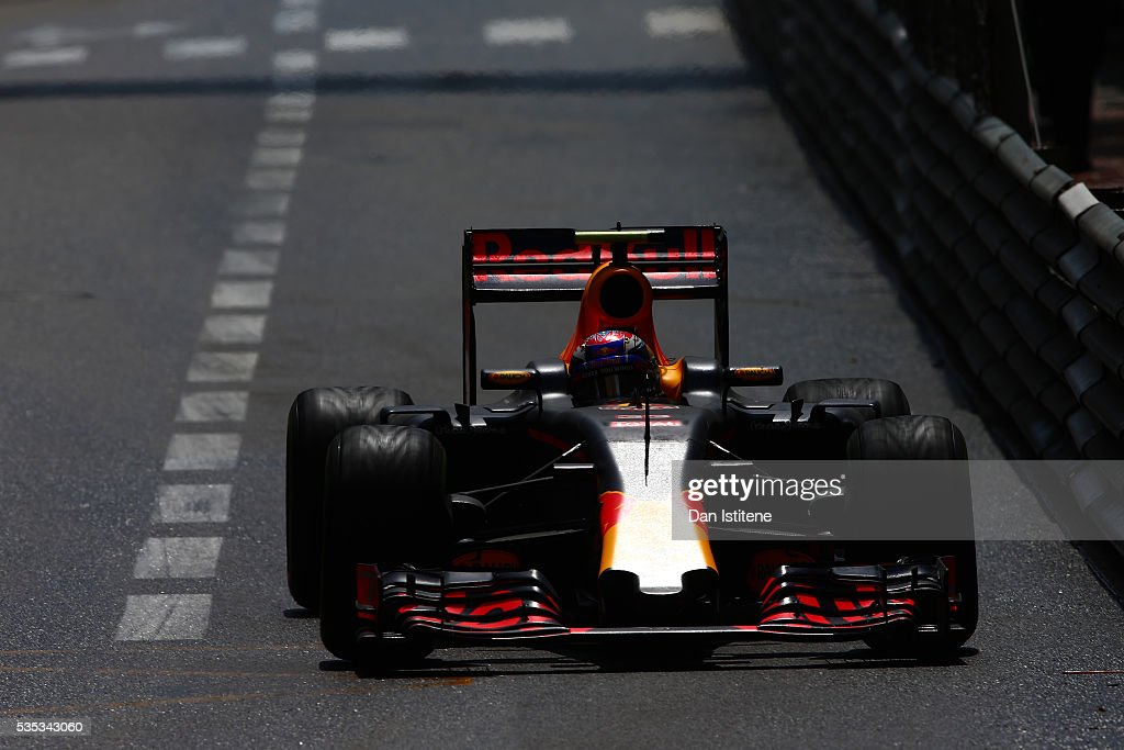 <a gi-track='captionPersonalityLinkClicked' href=/galleries/search?phrase=Max+Verstappen&family=editorial&specificpeople=12813205 ng-click='$event.stopPropagation()'>Max Verstappen</a> of the Netherlands drives the 6 Red Bull Racing Red Bull-TAG Heuer RB12 TAG Heuer during the Monaco Formula One Grand Prix at Circuit de Monaco on May 29, 2016 in Monte-Carlo, Monaco.