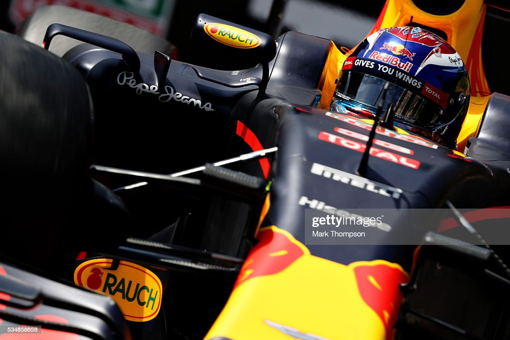 <a gi-track='captionPersonalityLinkClicked' href=/galleries/search?phrase=Max+Verstappen&family=editorial&specificpeople=12813205 ng-click='$event.stopPropagation()'>Max Verstappen</a> of the Netherlands driving the (33) Red Bull Racing Red Bull-TAG Heuer RB12 TAG Heuer on track during final practice ahead of the Monaco Formula One Grand Prix at Circuit de Monaco on May 28, 2016 in Monte-Carlo, Monaco.