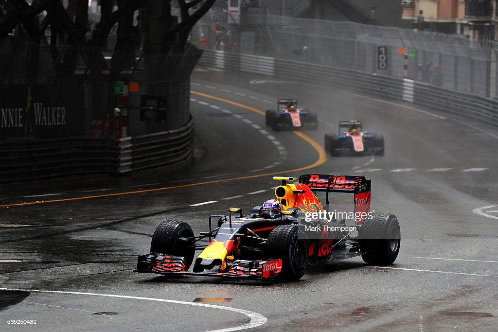 <a gi-track='captionPersonalityLinkClicked' href=/galleries/search?phrase=Max+Verstappen&family=editorial&specificpeople=12813205 ng-click='$event.stopPropagation()'>Max Verstappen</a> of the Netherlands driving the (33) Red Bull Racing Red Bull-TAG Heuer RB12 TAG Heuer on track during the Monaco Formula One Grand Prix at Circuit de Monaco on May 29, 2016 in Monte-Carlo, Monaco.