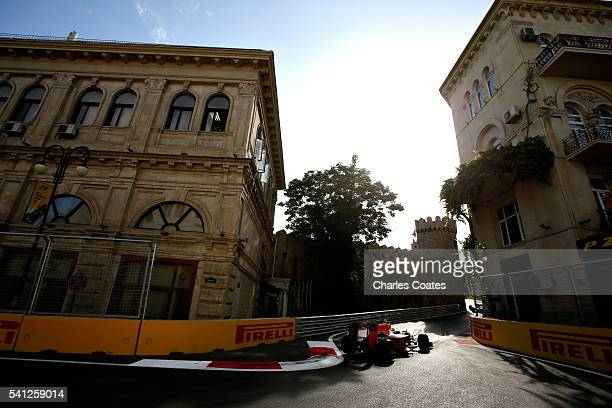Max Verstappen of the Netherlands driving the Red Bull Racing Red BullTAG Heuer RB12 TAG Heuer on track during the European Formula One Grand Prix at...
