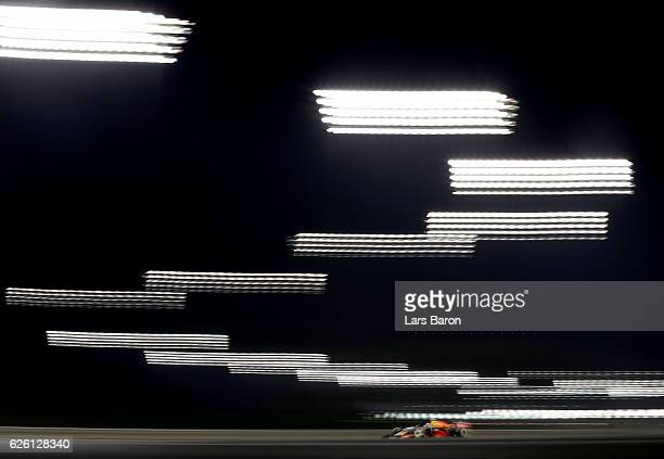 Max Verstappen of the Netherlands driving the Red Bull Racing Red BullTAG Heuer RB12 TAG Heuer on track during the Abu Dhabi Formula One Grand Prix...