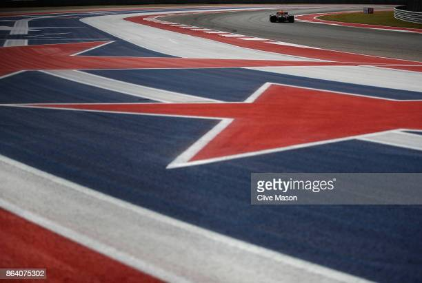 Max Verstappen of the Netherlands driving the Red Bull Racing Red BullTAG Heuer RB13 TAG Heuer on track during practice for the United States Formula...