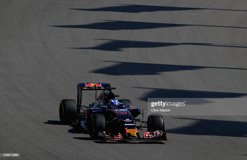 <a gi-track='captionPersonalityLinkClicked' href=/galleries/search?phrase=Max+Verstappen&family=editorial&specificpeople=12813205 ng-click='$event.stopPropagation()'>Max Verstappen</a> of the Netherlands driving the (33) Scuderia Toro Rosso STR11 Ferrari 060/5 turbo on track during practice for the Formula One Grand Prix of Russia at Sochi Autodrom on April 29, 2016 in Sochi, Russia.