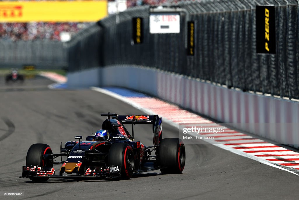 <a gi-track='captionPersonalityLinkClicked' href=/galleries/search?phrase=Max+Verstappen&family=editorial&specificpeople=12813205 ng-click='$event.stopPropagation()'>Max Verstappen</a> of the Netherlands driving the (33) Scuderia Toro Rosso STR11 Ferrari 060/5 turbo on track during the Formula One Grand Prix of Russia at Sochi Autodrom on May 1, 2016 in Sochi, Russia.