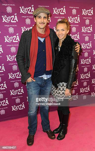 Max von Thun and girlfriend Kim Eberle attend 'Cirque Du Soleil' Kooza 2014 Munich Premiere at Theresienwiese on January 31 2014 in Munich Germany