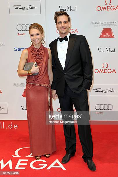 Max von Thun and girlfriend Kim Eberle attend the German Filmball at the Hotel Bayerischer Hof on January 21 2012 in Munich Germany