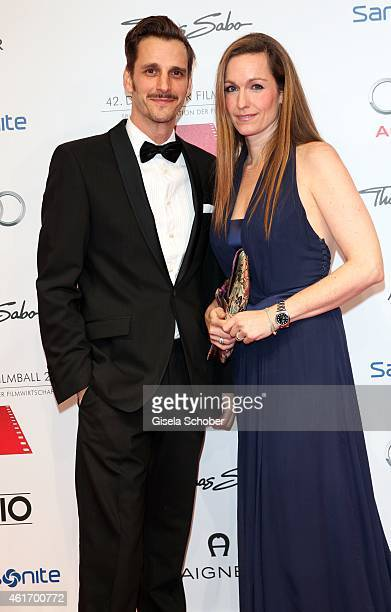 Max von Thun and his sister Gioia von Thun during the German Filmball 2015 at Hotel Bayerischer Hof on January 17 2015 in Munich Germany