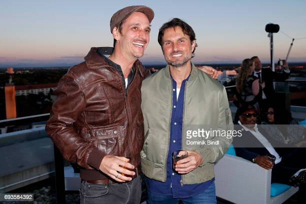 Max von Thun and Simon Verhoeven during the celebration of the 45th anniversary of Playboy Germany at Upside East on June 7 2017 in Munich Germany