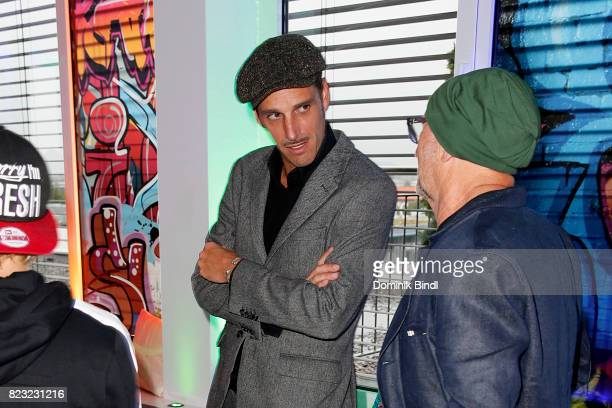 Max von Thun and Titus Dittmann during the Audemars Piguet and Wempe OldSchool Hip Hop Party at Skyloftstudios on July 26 2017 in Munich Germany
