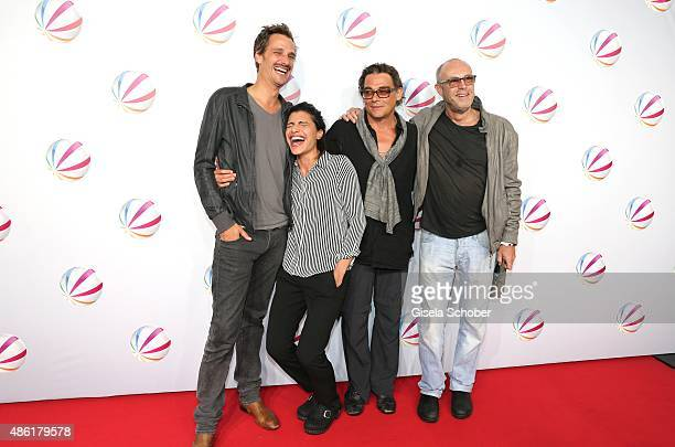 Max von Thun Shadi Hedayati Martin Feifel and Peter Kremer during the premiere of the film 'Die Udo Honig Story' at Gloria Palast in Munich on...