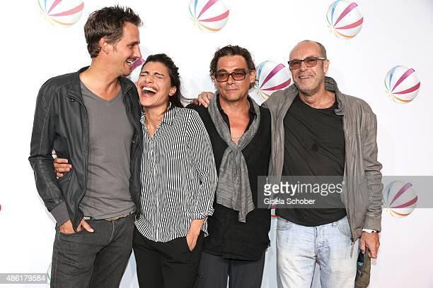 Max von Thun Shadi Hedayati Martin Feifel and Peter Kremer during the premiere of the film 'Die Udo Honig Story' at Gloria Palast in Munich on...