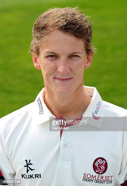 Max Waller of Somerset poses during the Somerset CCC Photocall at The County Ground on March 17 2015 in Taunton England