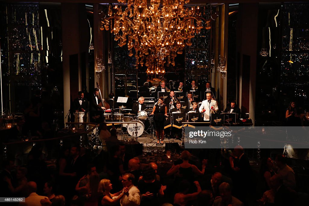 Max Weinberg's big band performs during Mondays With Max: Max Weinberg's Rainbow Room Residency at The Rainbow Room on August 24, 2015 in New York City.