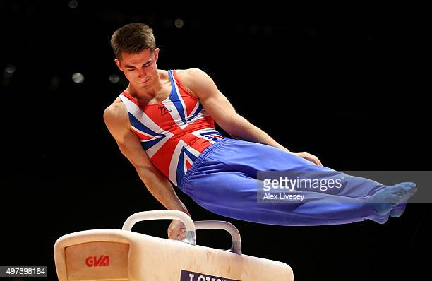 Max Whitlock of Great Britain wins Gold in the Pommel Horse Final during day nine of the 2015 World Artistic Gymnastics Championships at The SSE...