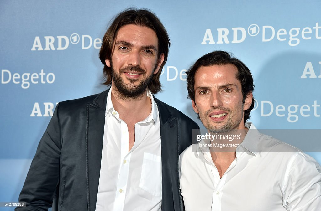 Max Wiedemann and Qurin Berg during the ARD Degeto Get Together during the Munich Film Festival 2016 at Kaisergarten on June 24, 2016 in Munich, Germany.