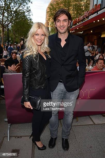 Max Wiedemann and Tina Kaiser attend 'Die SpiegelAffaere' Berlin Premiere at Astor Film Lounge on April 29 2014 in Berlin Germany