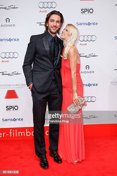 Max Wiedemann and Tina Kaiser attend the German Film Ball 2015 on January 17 2015 in Munich Germany