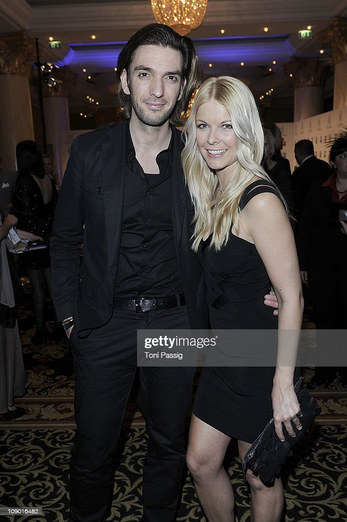 Max Wiedemann and Tina Kaiser attend the Movie meets Media Party at Ritz Carlton on February 11, 2011 in Berlin, Germany.