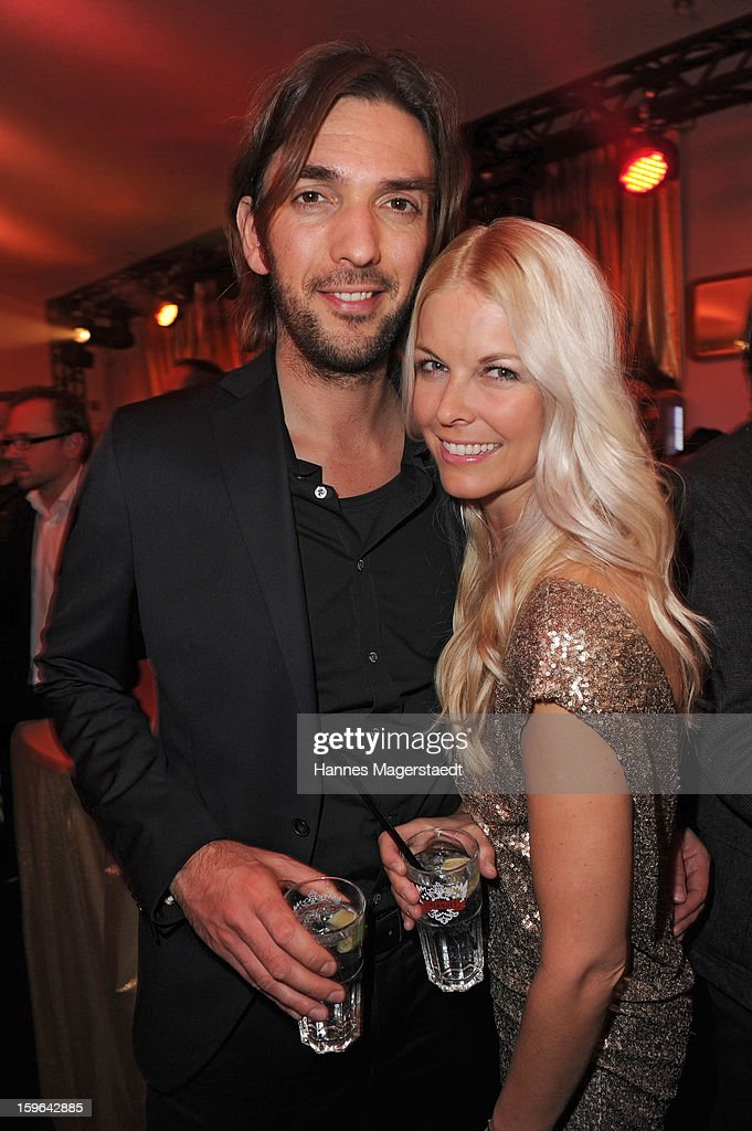 Max Wiedemann and Tina Kaiser attend the Sat.1 GOLD TV Channel Launch at the Filmcasino on January 17, 2013 in Munich, Germany.