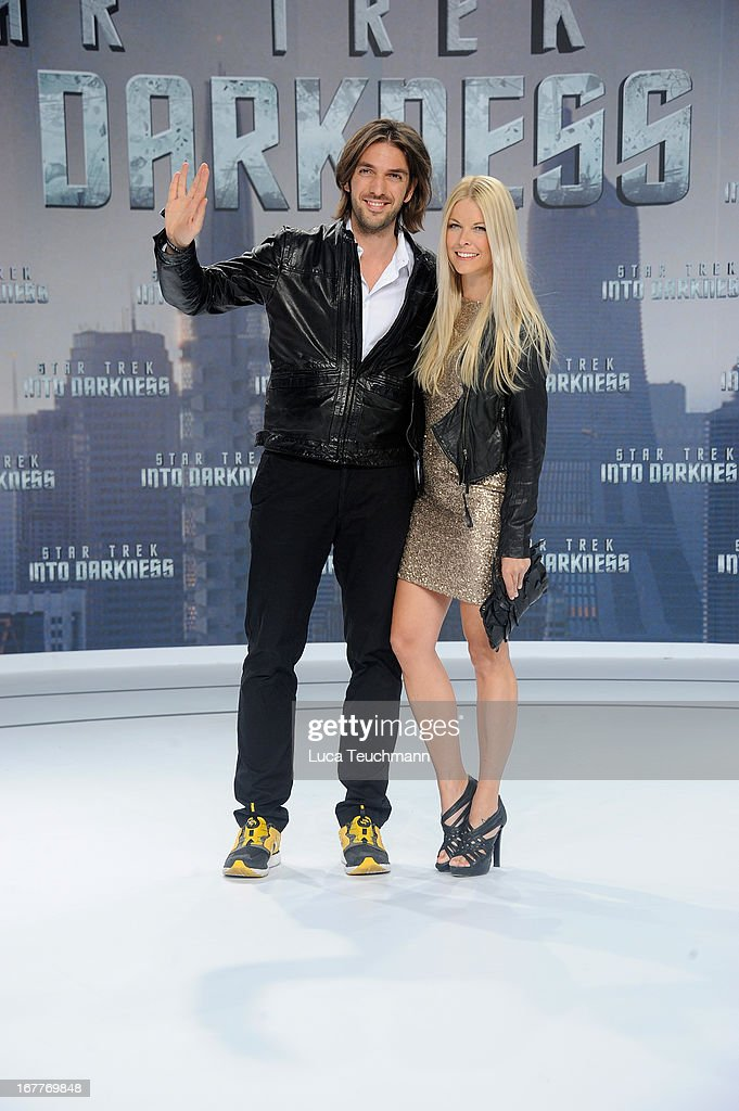 Max Wiedemann and Tina Kaiser attend the 'Star Trek Into Darkness' German Premiere at CineStar on April 29, 2013 in Berlin, Germany.