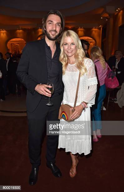 Max Wiedemann and Tina Kaiser during the opening night of the Munich Film Festival 2017 at Bayerischer Hof on June 22 2017 in Munich Germany