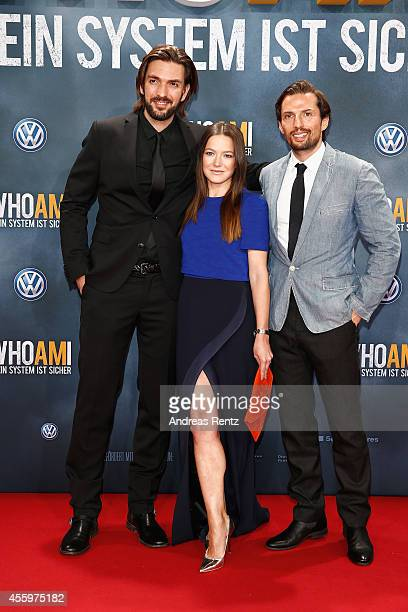 Max Wiedemann Hannah Herzsprung and Quirin Berg attend the premiere of the film 'Who am I' at Zoo Palast on September 23 2014 in Berlin Germany