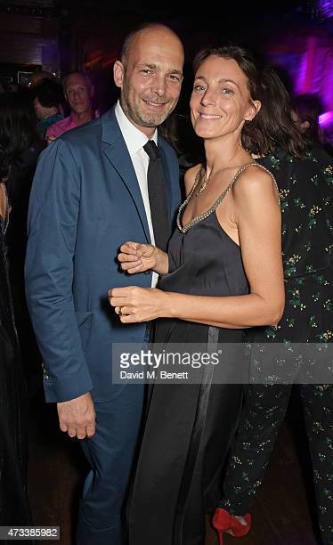 Max Wigram and Phoebe Philo attend Sam McKnight's 60th Birthday Party at Tramp on May 14 2015 in London England