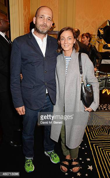 Max Wigram and Phoebe Philo attend the Solange Azagury Partridge presentation of her first menswear jewellery collection 'ALPHA' during London...