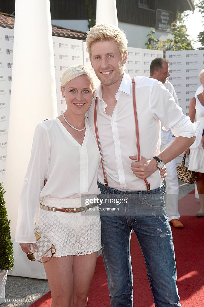 Maxi Arland and Andrea Arland attend the golf tournament 'Kaiser Cup 2013' at 'Hartl Golf-Resort' on July 13, 2013 in Bad Griesbach , Germany.