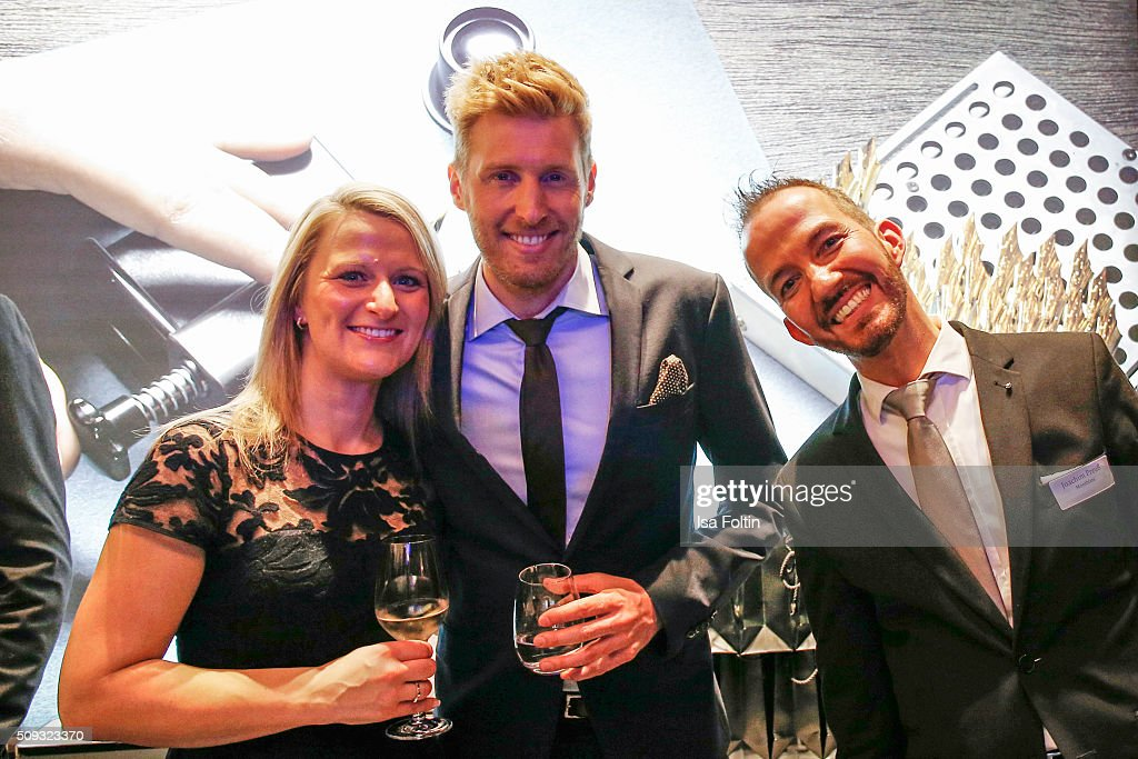 Maxi Arland and guests attend the Montblanc House Opening on February 09, 2016 in Hamburg, Germany.