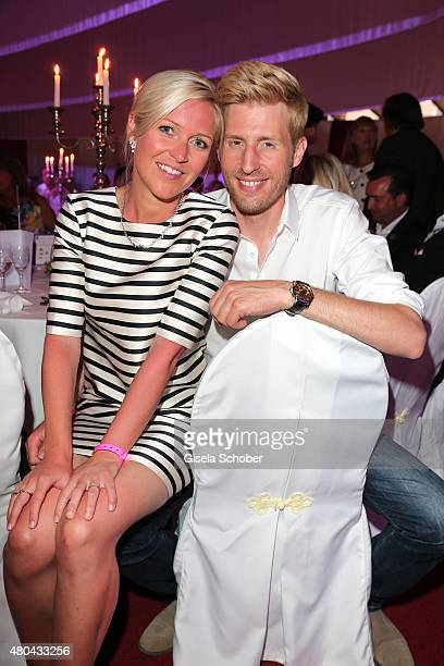 Maxi Arland and his wife Andrea Arland during the Kaiser Cup 2015 golfcup and gala on July 11 2015 in Bad Griesbach near Passau Germany
