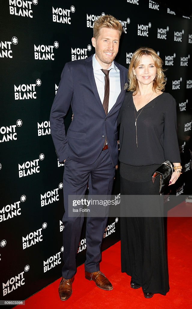 Maxi Arland and <a gi-track='captionPersonalityLinkClicked' href=/galleries/search?phrase=Tina+Ruland&family=editorial&specificpeople=2214826 ng-click='$event.stopPropagation()'>Tina Ruland</a> attend the Montblanc House Opening on February 09, 2016 in Hamburg, Germany.