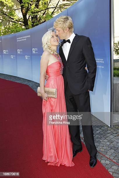Maxi Arland and wife Andrea at The Bavarian Television Award at Prinzregententheater in Munich
