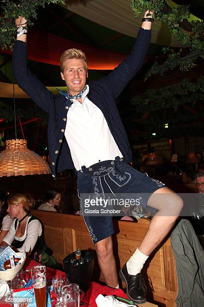 Maxi Arland attends the 'GoldStar TV Wiesn' during Oktoberfest at Weinzelt Theresienwiese on September 23 2014 in Munich Germany