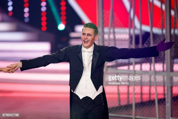 Maxi Arland performs on stage during the 7th show of the tenth season of the television competition 'Let's Dance' on May 5 2017 in Cologne Germany