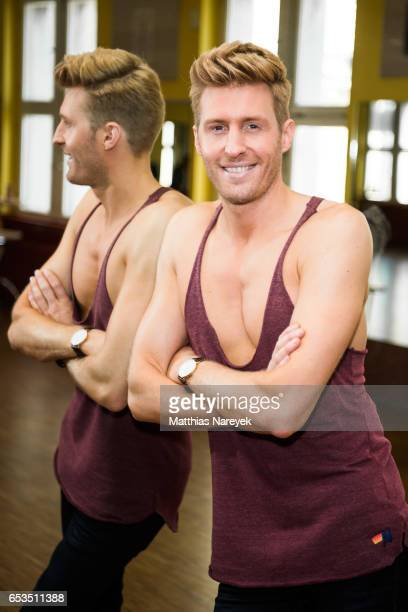 Maxi Arland poses at a photo call for the tenth season of the television competition 'Let's Dance' on March 15 2017 in Berlin Germany From March 17th...