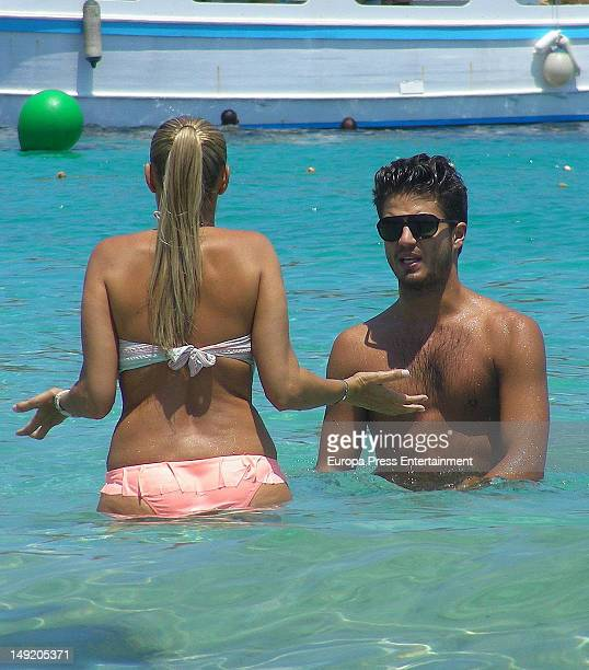Maxi Iglesias and girlfriend are seen on July 24 2012 in Ibiza Spain