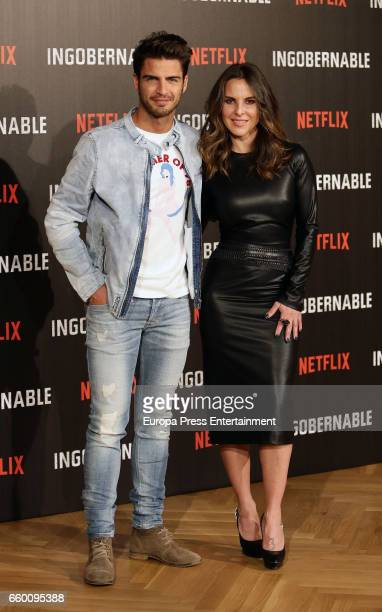 Maxi Iglesias and Kate del Castillo attend the photocall of Netflix's 'Ingobernable' at Ritz hotel on March 29 2017 in Madrid Spain