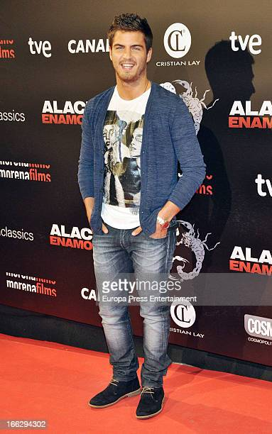 Maxi Iglesias attends 'Alacran Enamorado' premiere at Callao Cinema on April 10 2013 in Madrid Spain