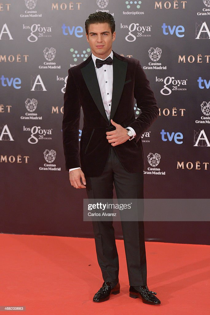 <a gi-track='captionPersonalityLinkClicked' href=/galleries/search?phrase=Maxi+Iglesias&family=editorial&specificpeople=5299677 ng-click='$event.stopPropagation()'>Maxi Iglesias</a> attends Goya Cinema Awards 2014 at Centro de Congresos Principe Felipe on February 9, 2014 in Madrid, Spain.