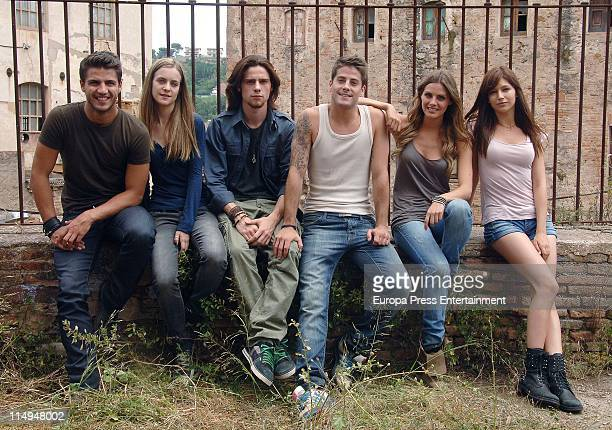 Maxi Iglesias Oscar Sinela Alba Ribas Luis Fernandez Amaia Montero and Ursula Corbero pose during a portrait session on the set of 'XP3D' on May 30...