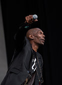 Maxi Jazz of Faithless performs onstage during T In The Park at Strathallan Castle on July 10 2016 in Perth Scotland