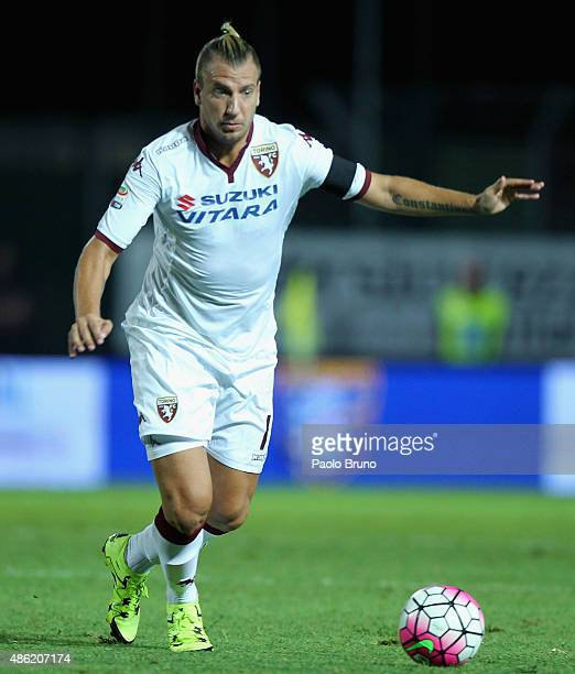 Maxi Lopez of Torino FC in action during the Serie A match between Frosinone Calcio and Torino FC at Stadio Matusa on August 23 2015 in Frosinone...