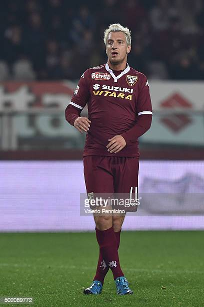 Maxi Lopez of Torino FC looks dejected during the Serie A match between Torino FC and Udinese Calcio at Stadio Olimpico di Torino on December 20 2015...